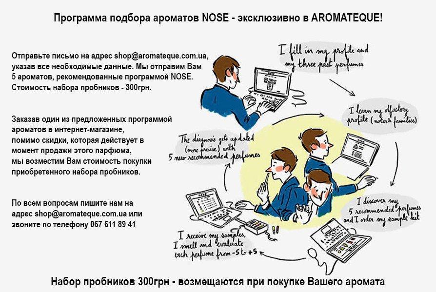 программа подбора ароматов NOSE Aromateque