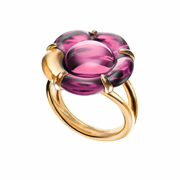 Baccarat - Кольцо Bague Petit Modele Vermeil Cristal 2803456b