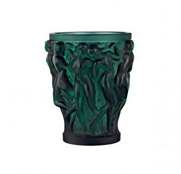 Lalique - Ваза Bacchantes Small Size Deep green 10547700L