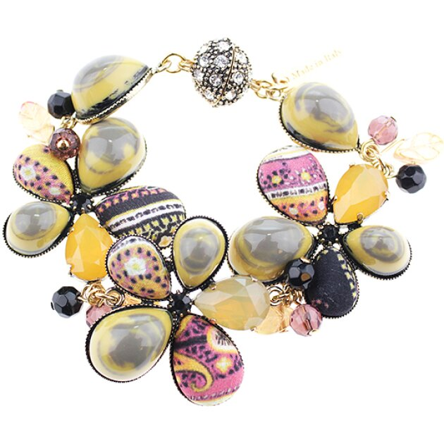 Etro accessories - Браслет Bracelet with Flowers and Cabochon C561703513SS17