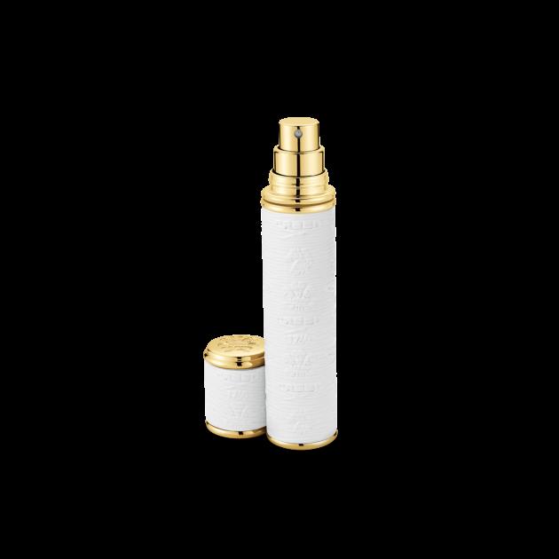 White with Gold Trim Pocket Atomizer