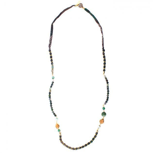 Necklace Faceted Beads with Setting