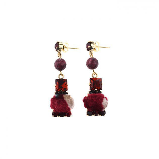Strass Earring with Coated Items
