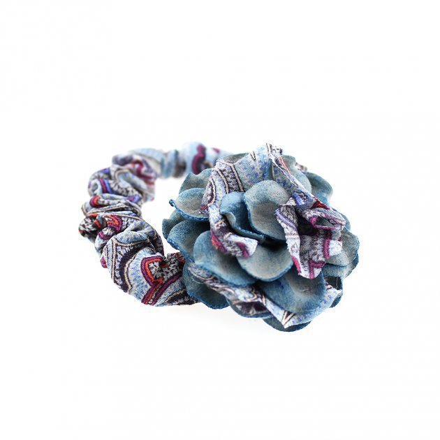 Elastic with Fabric Flower