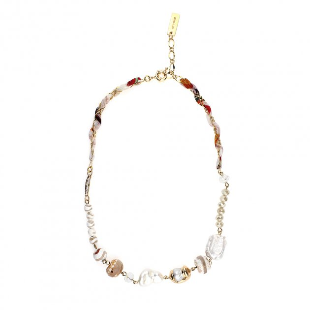 Silk Choker With Chains