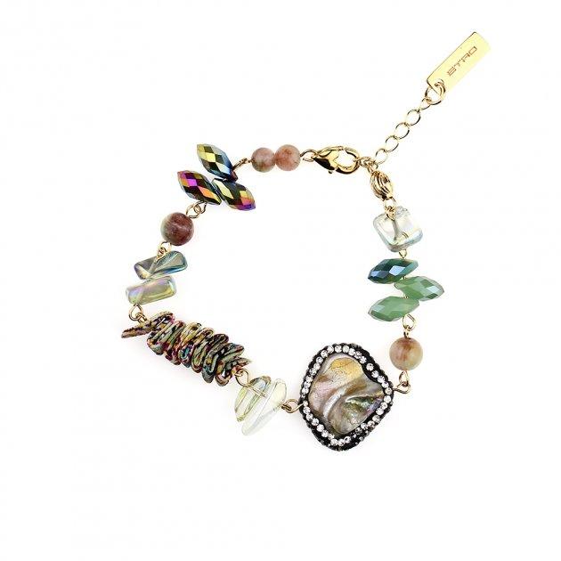 Bracelet With Pleated Silk