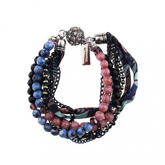 Multichain and Beads Bracelet