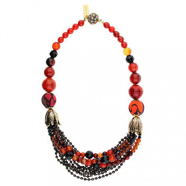 Chocker Beads Multilines with Tulips