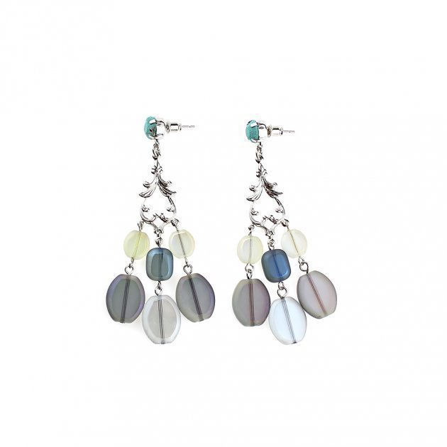 Cascade of Small Beads Earring
