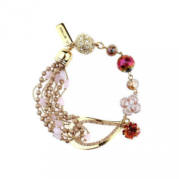 Multi-Stand Beads Bracelet with Paisley
