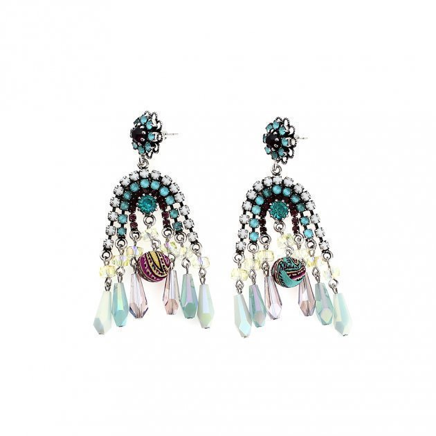Strass Earring with Drops