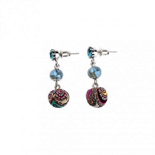 Small Covered Boules Earring