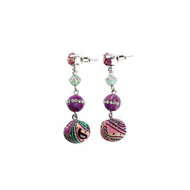 Earring Coated Boules