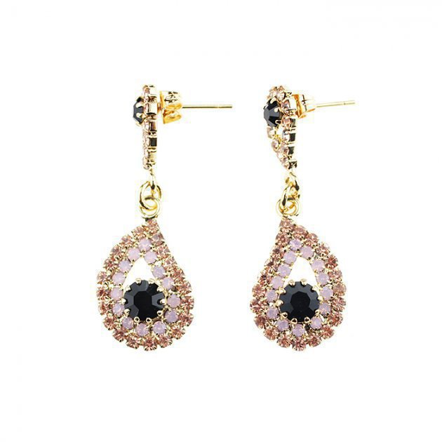 Earring with Strass Paisley