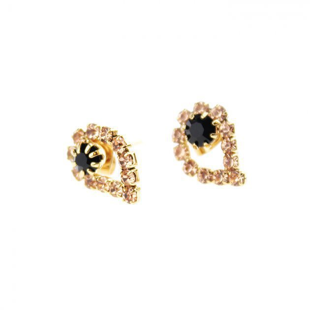 Strass Paisley Earring