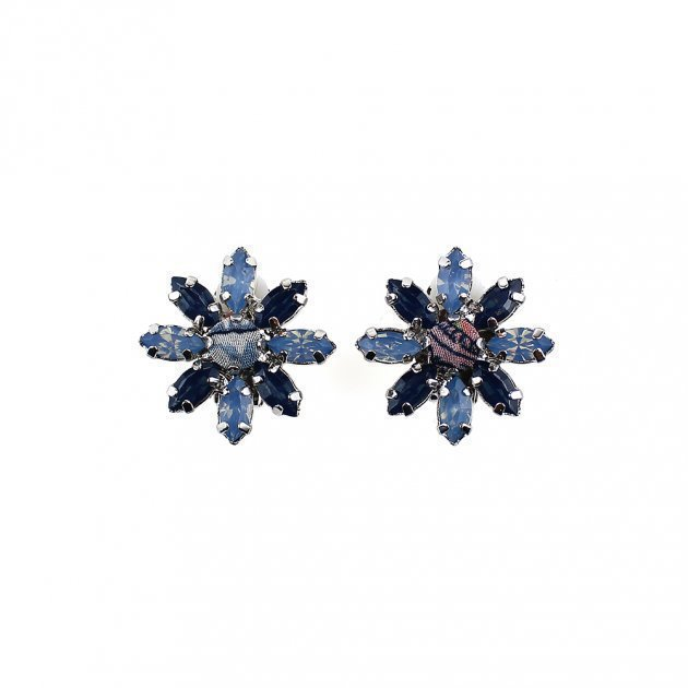 Earring Strass Flower