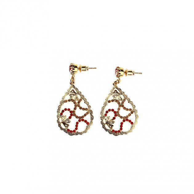 Filigree Earring With Strass