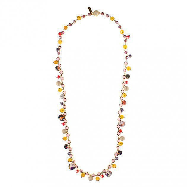 Chain Necklace with Glasses and Mini-Boules