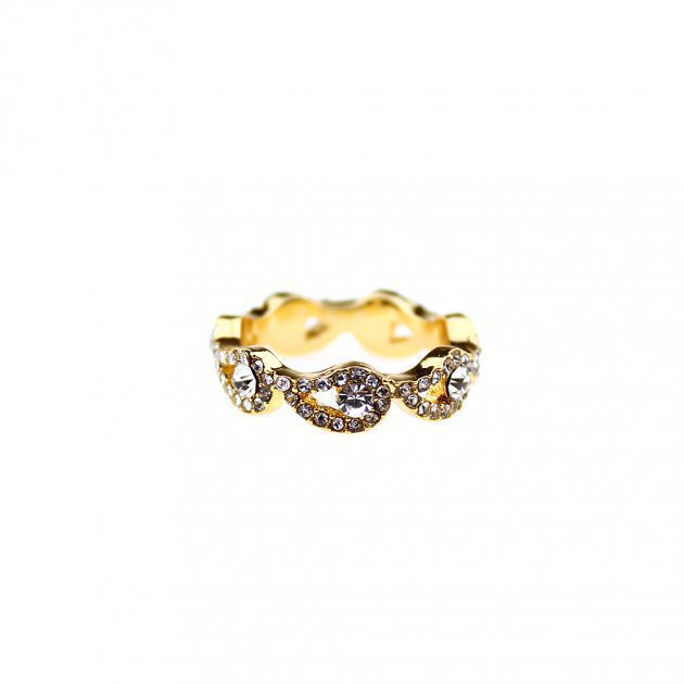 Ring With Paisley and Strass