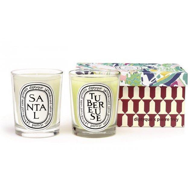 Tubéreuse & Santal duo candle set