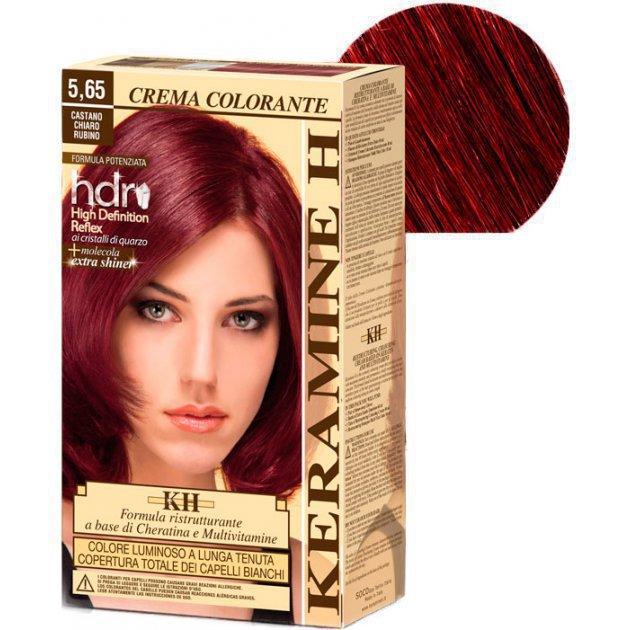 Crema Colorante тон 5,65 светло-рубиновый каштан