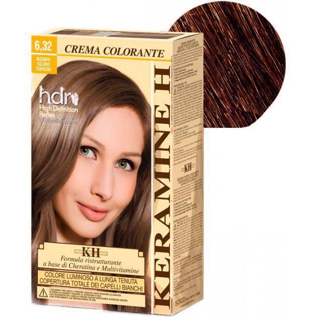 Crema Colorante тон 6.32 темный блонд топаз