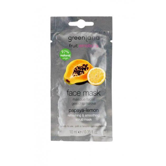 Face mask papaya-lemon, refreshing & smoothing scrub mask