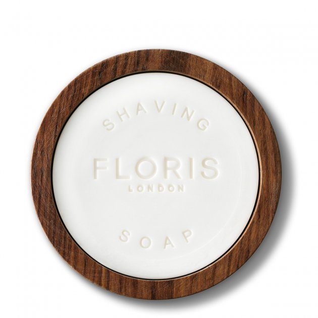 The Gentleman Floris No.89 Shaving Soap in a Wooden Bowl