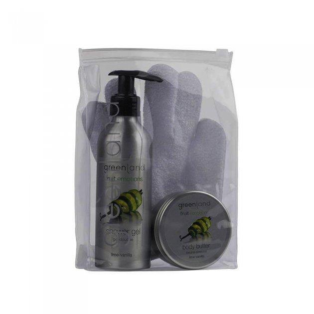 Giftset scrub glove lime-vanilla