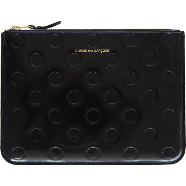 Polka Dots Embossed Black
