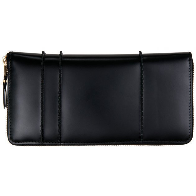 Raised Spike Wallet Black