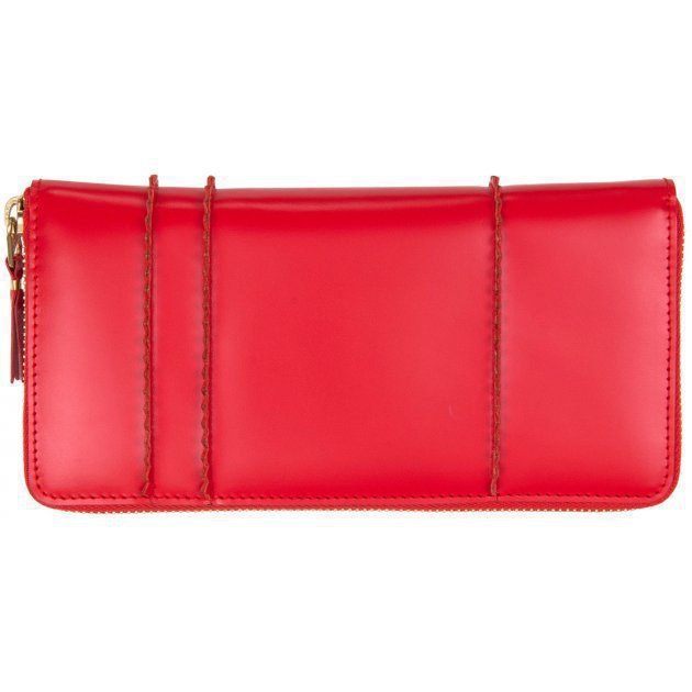 Raised Spike Wallet Red
