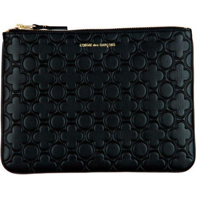 Classic Leather Embossed B Black