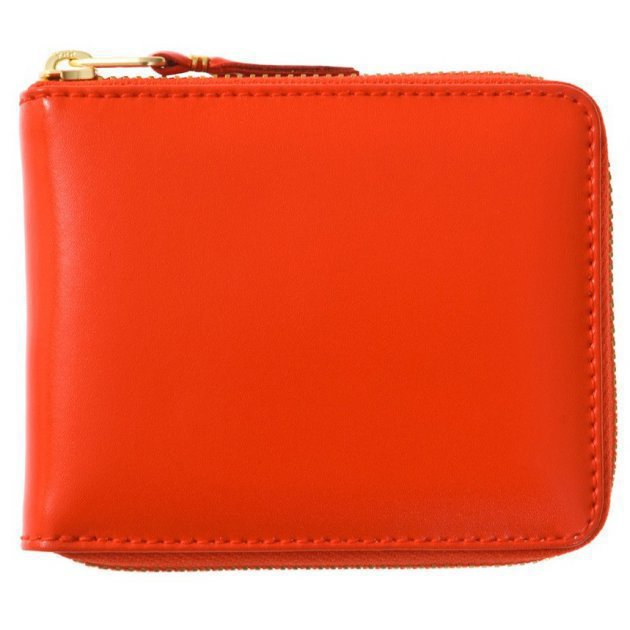 Leather Wallet Classic Line Orange