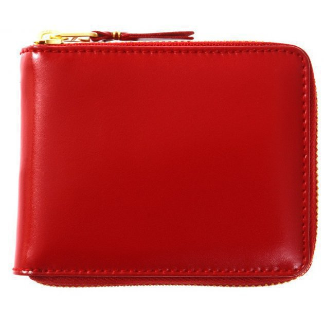 Leather Wallet Classic Line Red