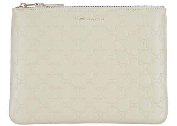 Emboss Wallet white