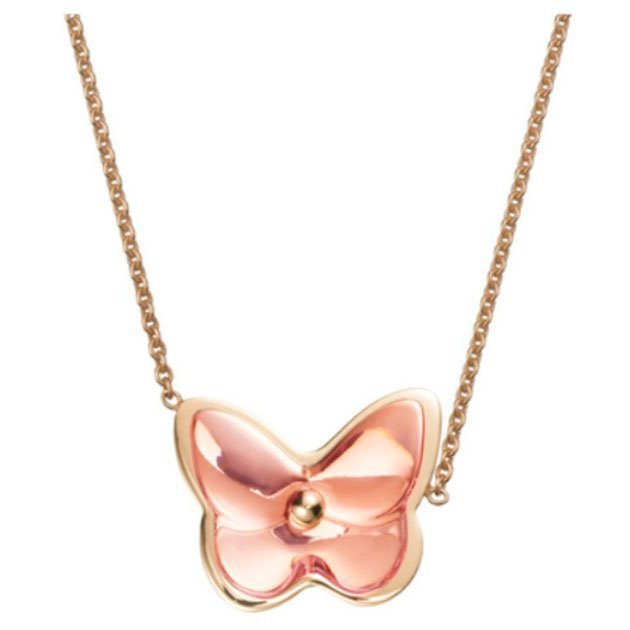 COLLIER VERMEIL OR ROSE CRISTAL ROSE