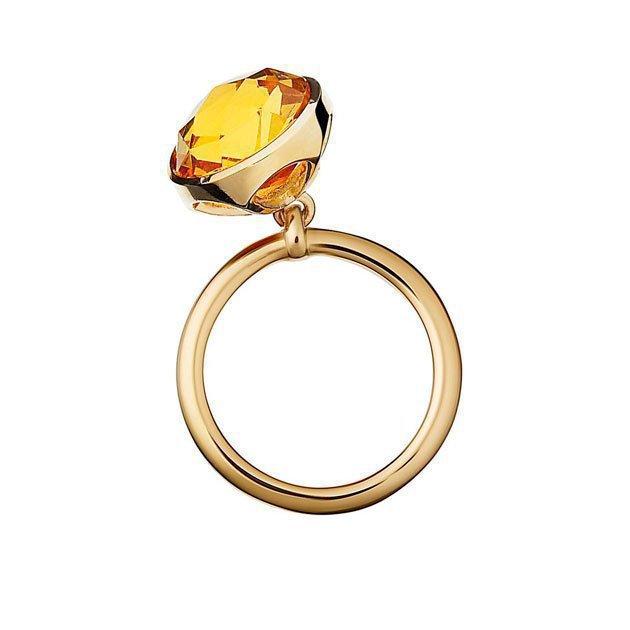 Bague Charm's Vermeil Cristal Ambre