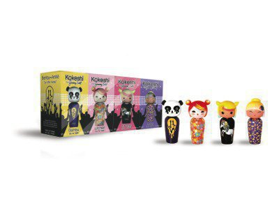 Kokeshi by JS Set of 4 miniatures