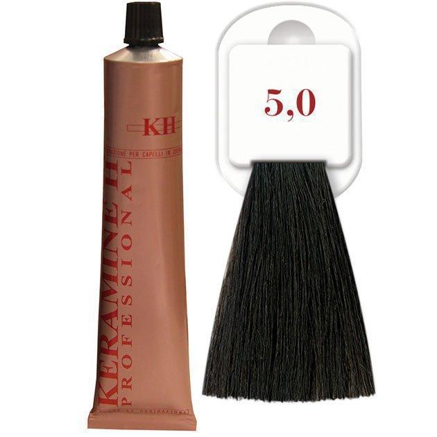 Salon Haircolor Cream тон 5.0 светло-каштановый