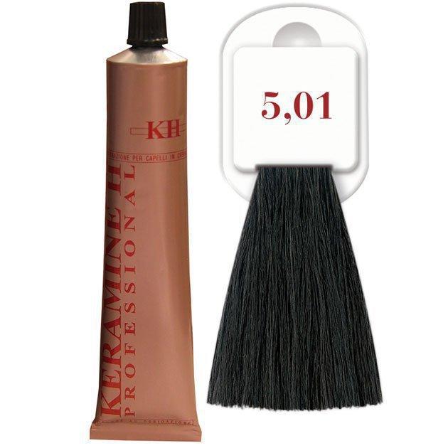 Salon Haircolor Cream тон 5.01 пепельный каштан