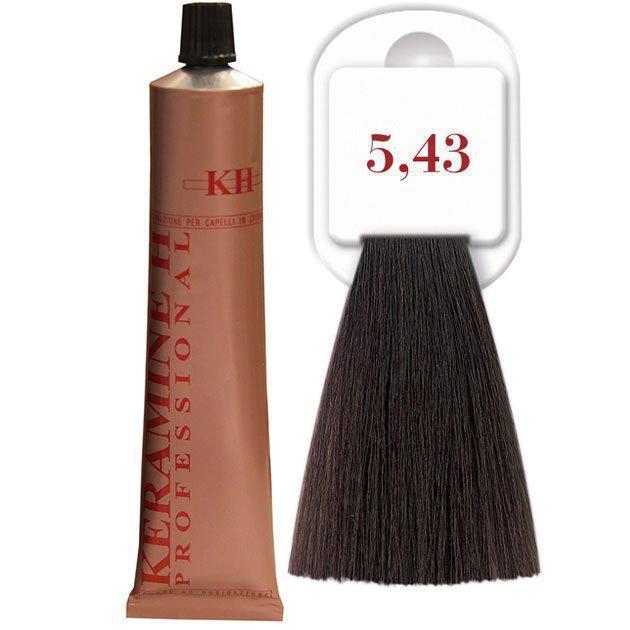 Salon Haircolor Cream тон 5.43 Светло-медный каштан (золото)