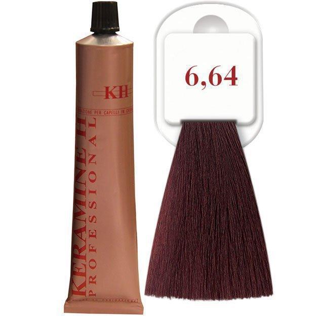 Salon Haircolor Cream тон 6.64 темно-бронзовый блонд (медный)