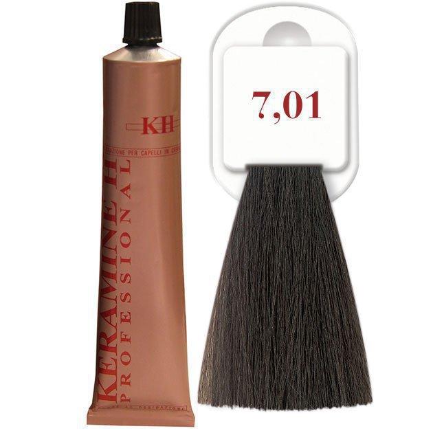 Salon Haircolor Cream тон 7.01 пепельный блонд