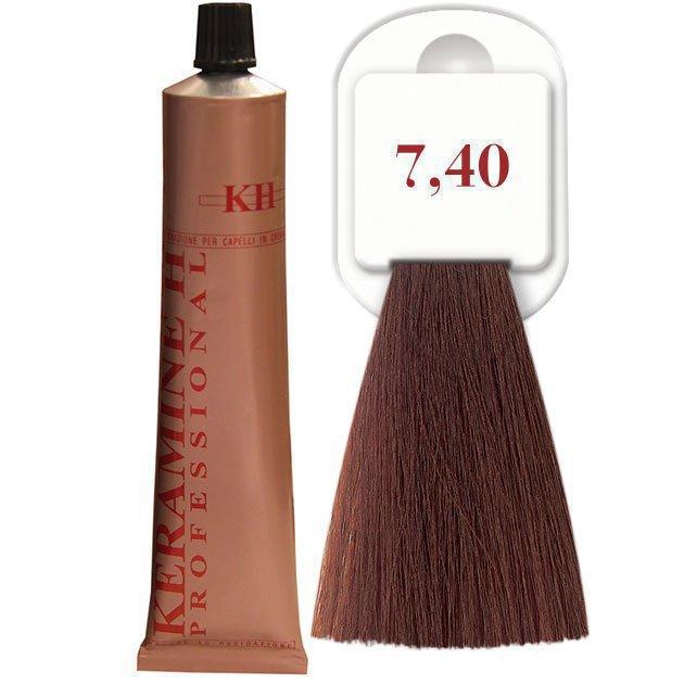 Salon Haircolor Cream тон 7.40 интенсивный медный блонд