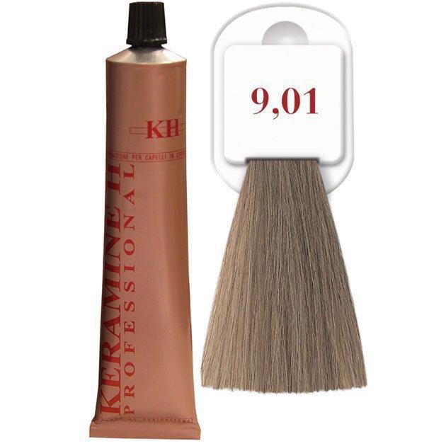 Salon Haircolor Cream тон 9.01 пепельно-платиновый блонд