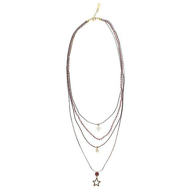 Multi-Strand Chain Necklace with Pendant