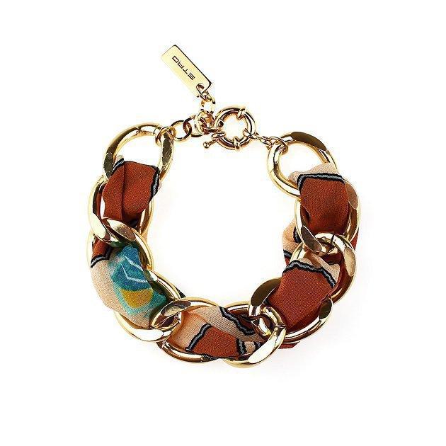 Chain Bracelet With Silk