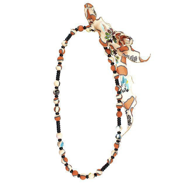 Boules Necklace With Silk Drapes