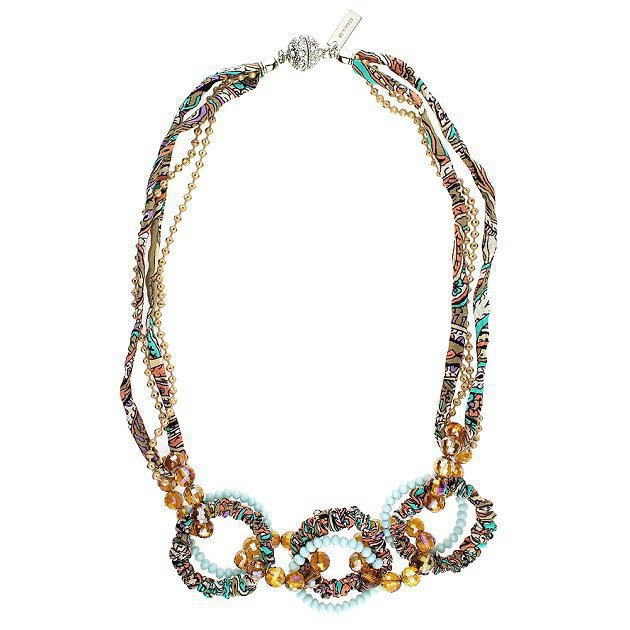 Necklace With Beaded Circles
